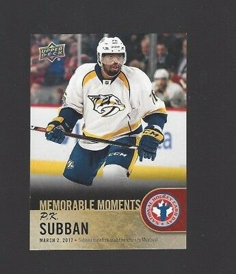 2017-18 Upper Deck National Hockey Card Day Canada #CAN16 P.K. Subban MM