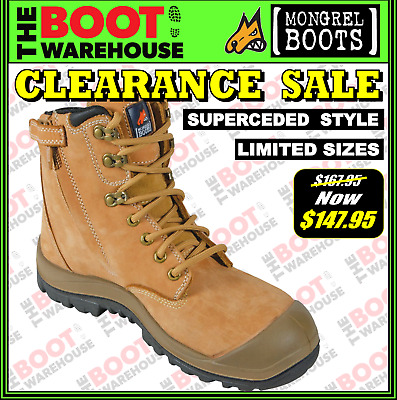 Mongrel 561050 Work Boots. Safety Steel Toe Cap. Zip. OLD STYLE! LIMITED SIZES!