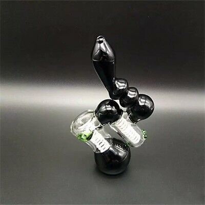 Glass bong Smoking Water Pipe Glass Tobacco Pipes Double Bubbler Recycler Heady