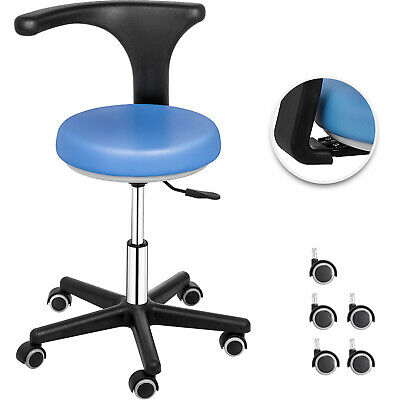 Dental Medical Assistant Chair Stool 360° Rotation Nurse Support Blue