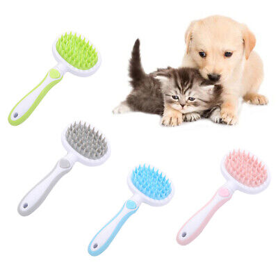 CO_ AU_ Pet Dog Cat Fur Grooming Comb Brush Hair Removal Trimmer Cleaning Massag