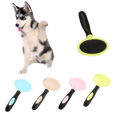 CO_ Pet Dog Cat Massage Needle Comb Grooming Hair Removal Brush Fur Shedding Too