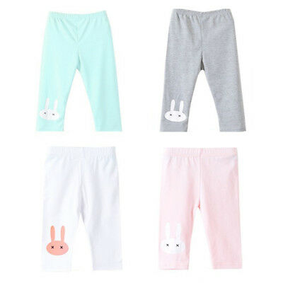 Knee Leggings Rabbit Pants Summer Infant Flowers Girls Trousers Kids Children