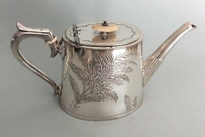 William R. Nutt & Co.Silver Plated Teapot Dated 1878-91