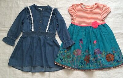 Girls River Island & Monsoon Dress Bundle Age 1-11/2 Years, In Very ! Very ! Vgc