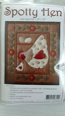 """Wall Quilt Kit SPOTTY HEN - when finished 13"""" x 15"""""""
