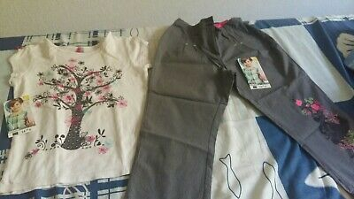 "Lot Ensemble Fille 8 ans ""Orchestra"" t.shirt & pantacourt TBE (etiquette)"