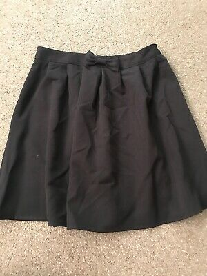 Girls Aged 7-8 Years Black Skater Style School Skirt