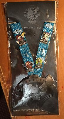Disney Hollywood Studios 25 Anniversary Lanyard PIN Starter Set with 4 Pins!