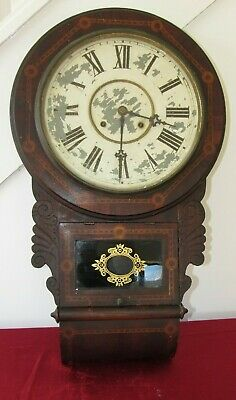 Good American Antique Striking Wall Clock