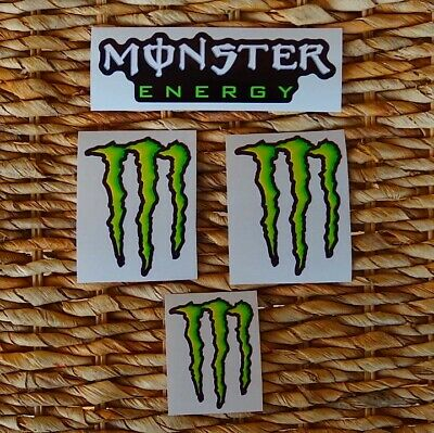 Kit Set 4 Adesivi Monster Energy Valentino Rossi Marquez Moto Gp
