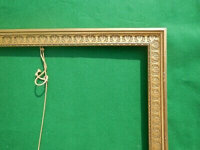 Large Frame Wood Carved Golden Style Empire in Decor Palmette Contemporary