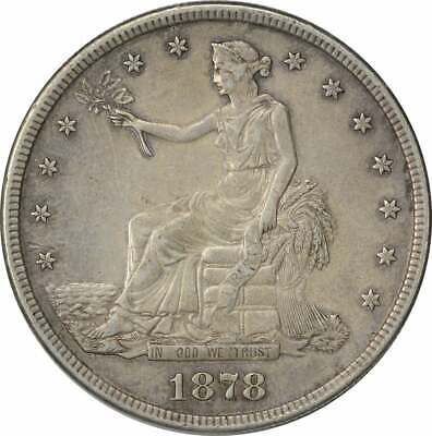 1878-S Trade Silver Dollar AU Uncertified