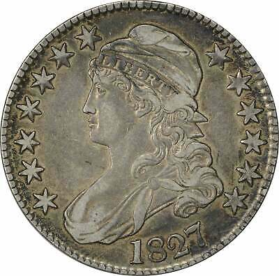 1827 Bust Half Dollar, Square Base 2, Choice EF, Uncertified