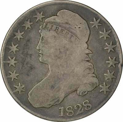 1828 Bust Half Dollar, Square Base 2 Small 8's Large Letters VG Uncertified