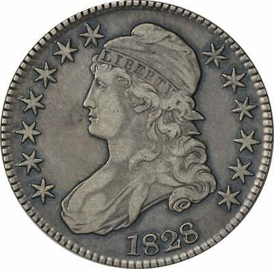 1828 Bust Half Dollar, Square Base 2 Small 8's Large Letters EF Uncertified