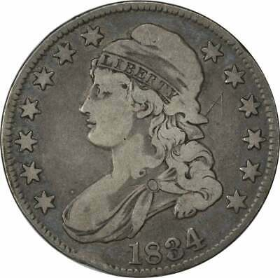 1834 Bust Half Dollar, Large Date, Small Letters, F, Uncertified