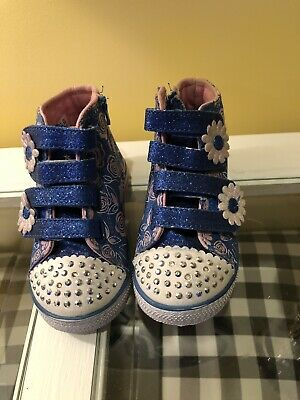 Little Girls Light Up Sketchers High Tops Size 7