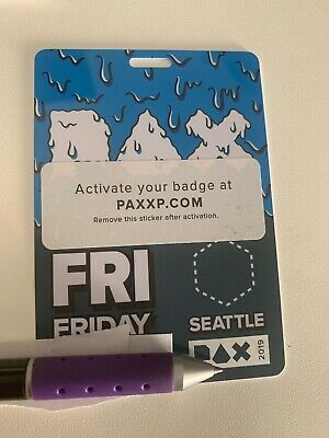 PAX West 2019 Seattle Ticket Friday Badge Penny Arcade FREE USPS Priority Ship