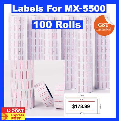 100 Rolls Of New Price Gun Tags Labels For Mx 5500 Mx-5500 Mx5500