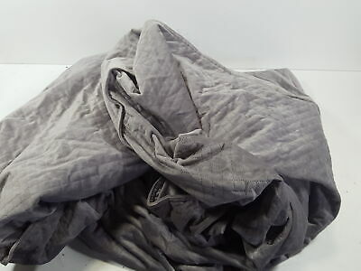 BlanQuil Quilted Weighted Blanket (Grey 15lb) W/Removable Cover.