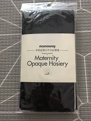 *Brand New* Ladies MAMAWAY Maternity Opaque Hosiery Tights Black Free Size