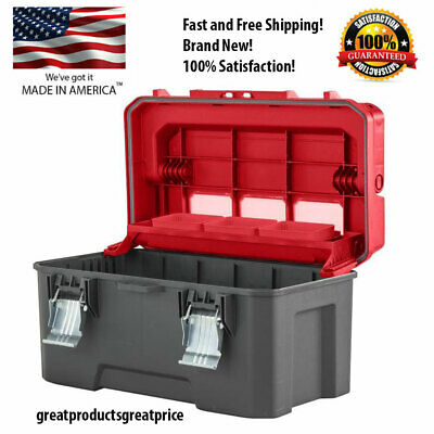 CRAFTSMAN PRO 26-in Red Large Durable Plastic Lockable Tool Box,NEW!