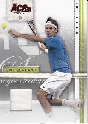2007 Ace Authentic Tennis Trading Card Patch Card Roger Federer-Switzerland