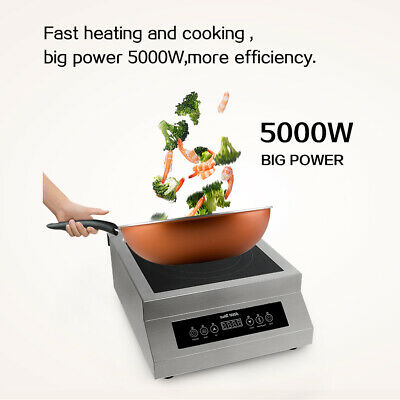 Commercial Induction Cooker Electric Countertop Burner for Restaurant 5000W CE
