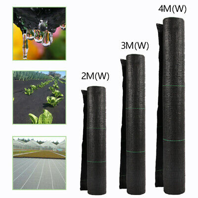 2m/3m/4m Wide Weed Control Fabric Ground Cover Membrane Landscape Heavy Duty New