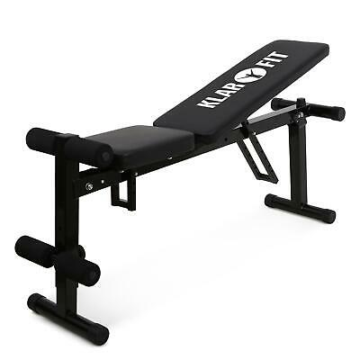 [B-Stock] FOLDING WEIGHT TRAINING BENCH SIT UP CRUNCH FITNESS HOME GYM EXERCISE