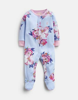 Joules 207235 Printed Babygrow in BLUE FLORAL