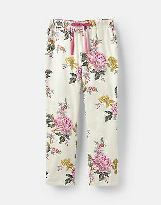 Joules 207374 Long Woven Pj Bottoms in CREAM CHINOISE