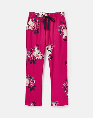 Joules 207374 Long Woven Pj Bottoms in FUCHSIA BIRCHAM BLOOM