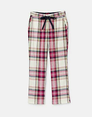 Joules 207374 Long Woven Pj Bottoms in PLUM CHECK