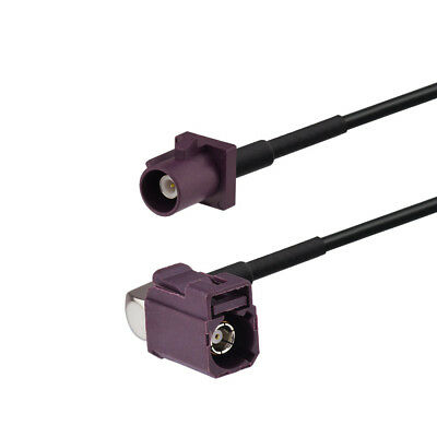 Fakra D Male to Fakra D Female right angle Pigtail cable RG174 1.2m for GSM GPS