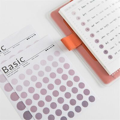 6 Sheets Colorful Dots Stickers Circle Index Sticker Calendar Remark Sticker