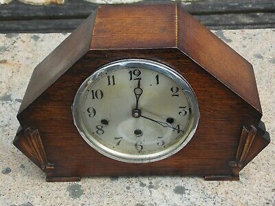 Old Art Deco Westminster Chime Clock. Running but for Restoration
