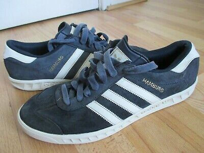 Details about Adidas Originals Hamburg Suede Leather Navy Blue White Shoes Trainers S74838 NEW