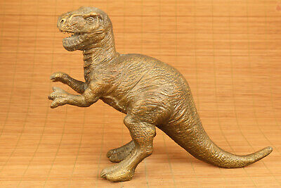 Big chinese old bronze hand carved dinosaur statue collectable fortune gift