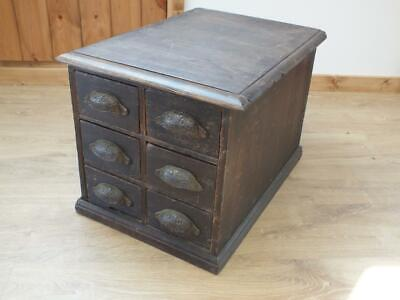 Antique Victorian Bank Of Drawers Index Drawers Engineers Drawers