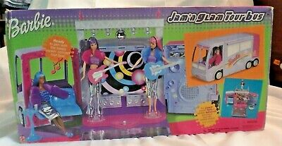 Barbie 2001 Jam n Glam Concert Tour Bus Stage w/Lights Sound NEW Factory Sealed