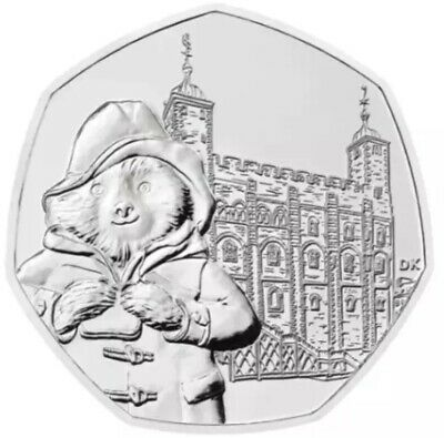 Paddington Bear At The Tower 50p Uncirculated From Sealed Bag