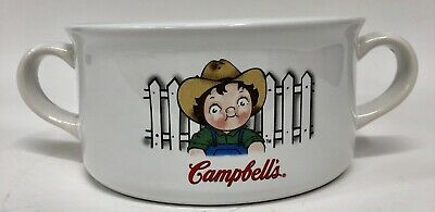 Campbell's Soup Kids Houston Harvest 2001 Two Handle Soup Bowl New Condition
