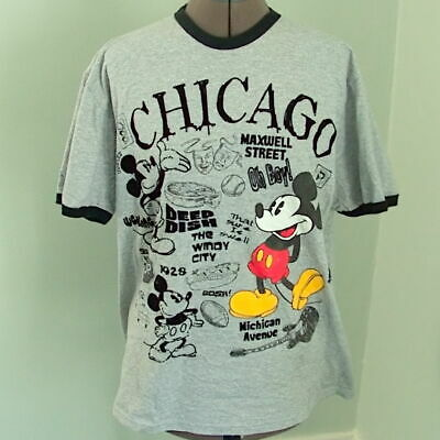 Disney Store Authentic Mickey Mouse Chicago Boys Blue T Shirt Tee Size 2//3 4