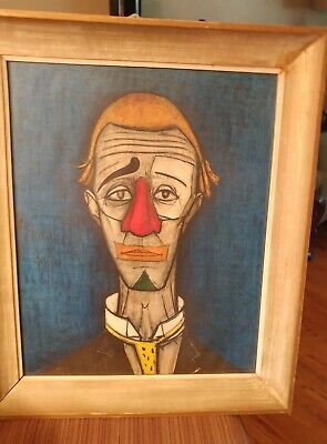 Swell Rare Bernard Buffet Huge Clown Lithograph Signed And Interior Design Ideas Apansoteloinfo