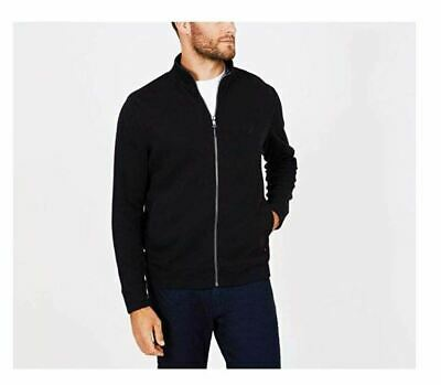 Nautica Men's Full Zip Long Sleeve Zip Front Mock Neck Sweatshirt NEW NWT Black