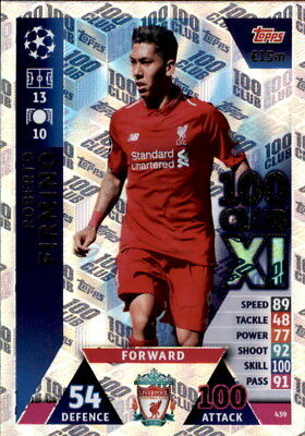 Champions League 18/19 - Card 439 - Roberto Firmino - 100 Club Xi