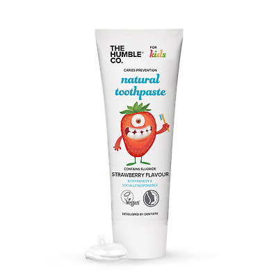 Humble Natural Strawberry Toothpaste with Fluoride for kids + FREE Samples