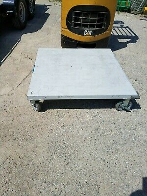 "Ameritek Heavy Duty Steel Pallet Dolly Cart - 48"" x 48"""